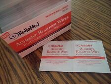 ReliaMed Adhesive Remover Wipes- Box of 75 - New