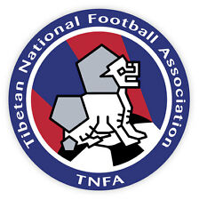 Tibet TNFA Association football adesivo etichetta sticker 10cm x 10cm