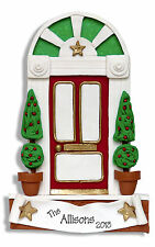 FRONT DOOR Personalized FAMILY CHRISTMAS Ornament  Polymer Clay by Deb & Co.