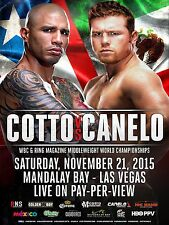 MIGUEL COTTO v CANELO ALVAREZ WBC MIDDLEWEIGHT TITLE PROMO POSTER