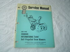 IH International self propelled snow blower service  manual