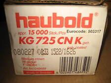 15000 Stück Haubold KG 725 CNK GEH Klammern Schussgerät Tacker Nadeln 11,25 x 25