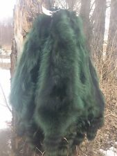 Tanned dressed Green 3X Heavy Northern raccoon skin pelt