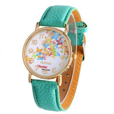 Casual Women's Watch Butterfly Patterns Leather Band Analog Quartz Wrist Watches
