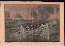 WWI Unterseeboot 16 Kaiserliche Marine Submarine U-Boot/Boat 1917 ILLUSTRATION