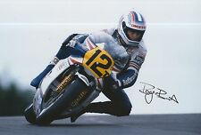 Roger Burnett Hand Signed Photo 12x8 Rothmans Honda MotoGP 5.