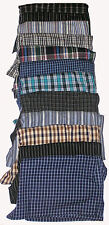 4 NEW SIZE XL MENS COTTON CHECK LOOSE FITTING BOXER SHORTS