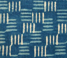Hand Block Printed Cotton. 2½ Yards. Natural Indigo Dye. Dabu, Mud Resist Fabric