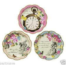 TRULY ALICE IN WONDERLAND VINTAGE MAD HATTERS GARDEN TEA PARTY DAINTY PLATES