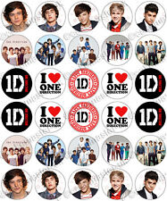 30 x One Direction Birthday Collection Edible Rice Wafer Paper Cupcake Toppers