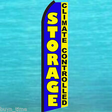 STORAGE Climate Controlled FLUTTER FEATHER FLAG Swooper Advertising Sign Banner