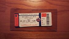 Washington Nationals MAX SCHERZER NO HITTER 10/3/15 New York Mets TICKET Nats