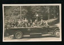 Devon TORBAY Hospital excursion? Charabanc Music Band c1920/30s? RP PPC by Pyne