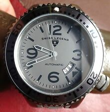 SWISS LEGEND Neptune Men's Analog Gun Metal And Gray Automatic Watch On Silicone