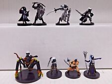 Dungeons and Dragons Miniatures DROW LOT C - 8 D&D/Pathfinder Minis