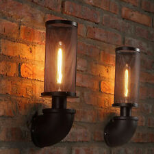 Iron Network Vintage Porch Hallway Wall Light Water Pipe Wall Lamp Wall Sconce