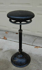 "Antique Heavy Cast Iron 1930's Ritter Operating Stool Model C, 26"" Tall, Medical"