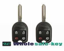 2 New Uncut Remote Head Ignition Key Keyless Entry Car Combo Transmitter Fob 4b