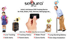 Auxus seQura GPS Unique Waterproof Tracking Device for Kids Pets Elders Travel
