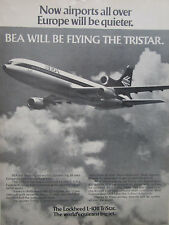 9/1972 PUB LOCKHEED L-1011 TRISTAR AIRLINER ROLLS RB211 ENGINES BEA AIRLINE AD