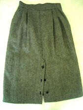 GUCCI - WOOL & CASHMERE, TWEED, LEATHER-TRIMMED STRAIGHT SKIRT - SIZE  42/12