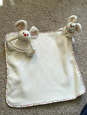MOTHERCARE BLOSSOM FARM NIBBLES MOUSE SNUGGLE BLANKET COMFORTER RATTLE