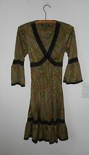 Betsey Johnson New York Multi-Color Jersey Dress 6 3/4 Wide Sleeves