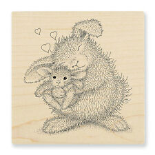 HOUSE MOUSE RUBBER STAMPS BUNNY LUV HAPPY HOPPERS NEW STAMP