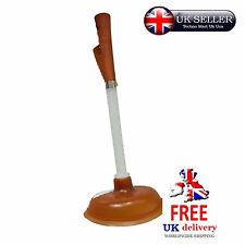 Wooden Handle Toilet Plunger Sink Unblock Bathroom Kitchen Sink Drain Bath