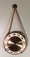 Kienzle Style 1950's Key Wind ZODIAC Clock with Rope Hanger Looks & Works Great!