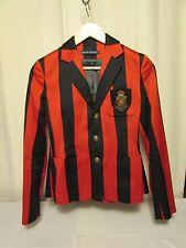 veste blazer RALPH LAUREN taille 2 rouge/bleu marine