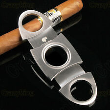 Cohiba  Stainless Steel 2 Blade Cigar Cutter Scissors With Case & Gift Box