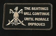 BEATINGS WILL CONTINUE UNTIL IMPROVES PIRATE SWAT VELCRO® BRAND FASTENER PATCH
