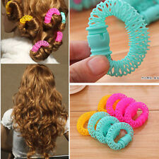 8x Women's Bendy Hair Styling Roller Curler Spiral Curls DIY Tool Hairdressing