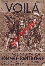 Voila n°276 du 04/07/1936 Hommes-panthères Belmonte Fontainebleau Tour de France