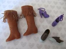 Hannah Montana Miley Cyrus Lilly Friend Boots/Shoes Lot 1- Fringe Brown Tennis