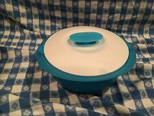 TUPPERWARE TORTILLA KEEPER 1.6 QUART NEW IN PLASTIC AQUA/SNOW WHITE