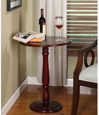 Indoor Plant Stand Wood Table Pedestal Side Cherry Dark Small Contemporary End