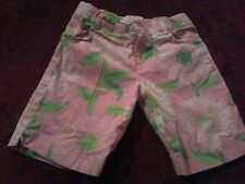 Lilly Pulitzer Girls 4T  Hibiscus Pink Cabana Floral Shorts Slight Marks (H4)
