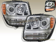 2007-2011 Dodge Nitro CCFL Halo Projector LED Headlights Chrome Clear