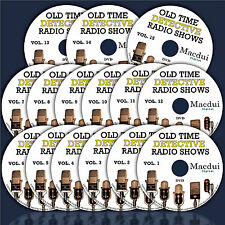 Old Time Detective Radio Shows – 6385 Mp3 on 15 DVD Mystery/Crime 2600 Hours OTR