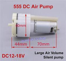 DC 12V 555 Motor DC Air Pump Mute Gas Pump Oxygen Pump for Aquarium Fish Tank