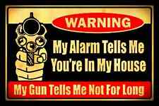 *WARNING GO AWAY* MADE IN USA!  METAL SIGN 8X12 MAN CAVE KEEP OUT CAUTION STOP
