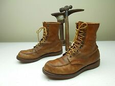 VINTAGE MADE IN USA BROWN DISTRESSED LACE UP PACKER FARM CHORE WORK 8 D BOOTS