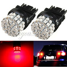 2Pcs 3157 3156 Super Bright Red 50 SMD LED Bulbs - Signal Brake Back Up Lights