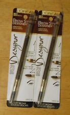 2 pencil lot LOREAL BROW STYLIST DESIGNER EYEBROW PENCIL 315 DARK BRUNETTE  NIP