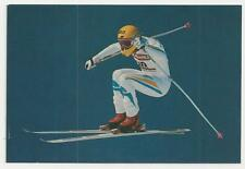 Postcard, Skiing -  Mens Downhill Racing Championships, Switzerland
