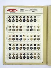 Jindal Button Salesman's Sample Card Polyester 360 Buttons
