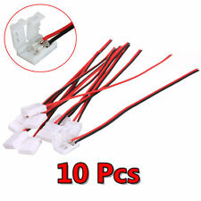 10PCS 10mm 2Pin Single Connector Adapter cable For 5630 5050 LED Strip