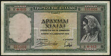 Griechenland / Greece 1000 Drachmen 1939 Pick 110 (3)